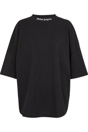 Palm Angels Logo oversized cotton jersey T-shirt