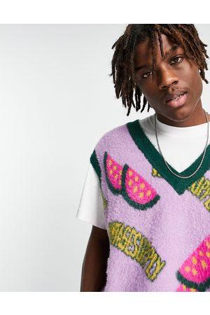 Vintage Supply Watermelon knitted vest in purple