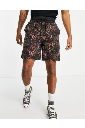 Sixth June Herre Sett - Shorts co-ord in black with tropical print