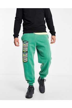Vintage Supply Herre Joggebukser - Bubblegum can print joggers-Green