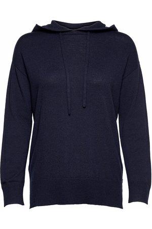 Lexington Clothing Ellie Merino/Viscose Blend Knitted Hood Strikket Genser