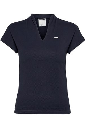 aim'n Navy Luxe Seamless Polo Shirt T-shirts & Tops Short-sleeved
