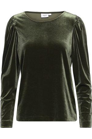 Saint Tropez Im Sz Blouse T-shirts & Tops Long-sleeved Grønn