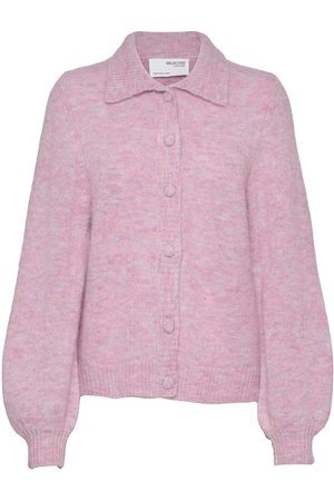 Selected Femme Slfsia-Louisa Ls Knit Polo Cardigan Strikkegenser Cardigan