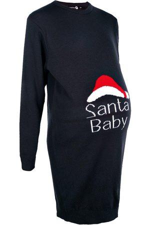 Boohoo Maternity Santa Baby Christmas Dress