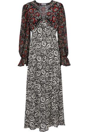 RIXO Aoife paisley-printed silk dress