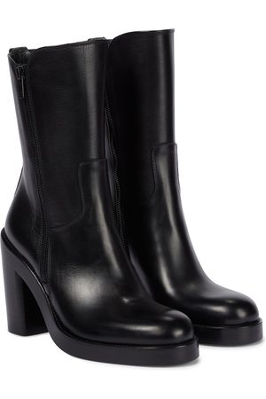 Ann Demeulemeester Crosta leather ankle boots