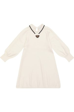 Burberry Kids Clarisa teddy wool knit dress