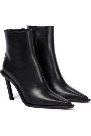 ANN DEMEULEMEESTER Agnellato leather ankle boots