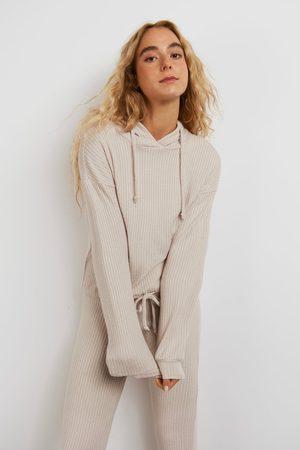 Gina Tricot Stina rib hoodie