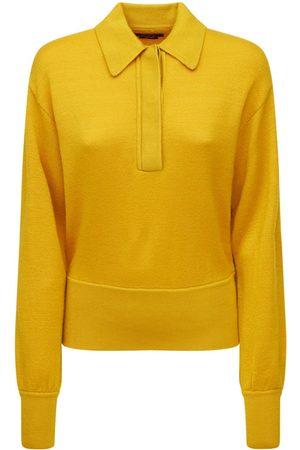 Isabel Marant Dame Strikkegensere - Heron Wool Knit Polo Sweater