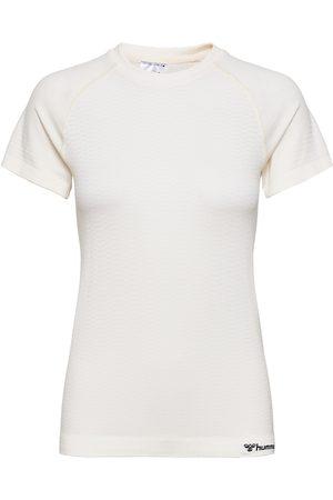 Hummel Dame Langermede - Hmlluna Seamless T-Shirt T-shirts & Tops Long-sleeved Hvit
