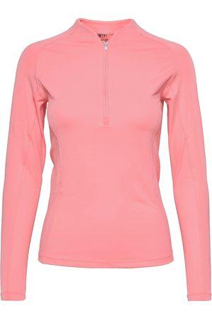 aim'n Dame Langermede - Coral Favourite Zip Long Sleeve T-shirts & Tops Long-sleeved