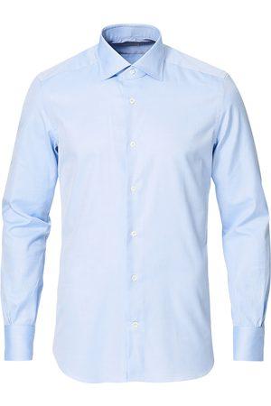 MAZZARELLI Herre Skjorter - Soft Cotton Cut Away Shirt Light Blue