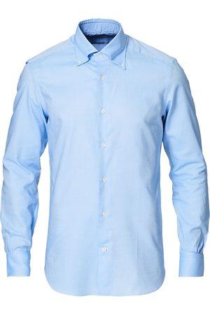 MAZZARELLI Herre Langermede - Soft Oxford Button Down Shirt Light Blue