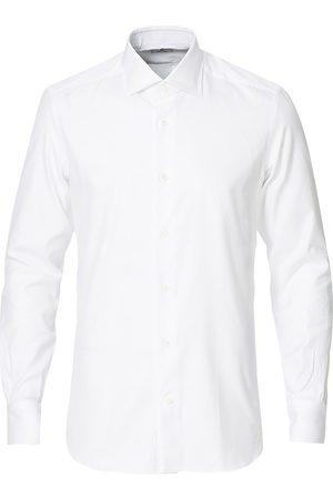 MAZZARELLI Herre Skjorter - Soft Cotton Cut Away Shirt White
