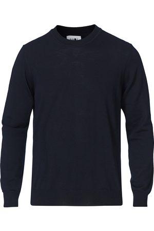 NN.07 Ted Merino Crew Neck Pullover Navy Blue
