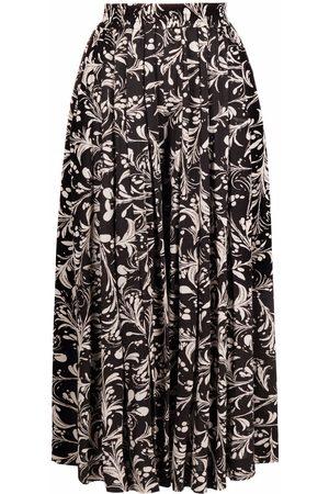 Isabel Marant Dame Culotte bukser - Floral-print pleated culottes