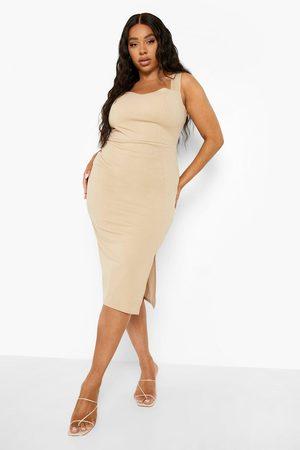 Boohoo Plus Split Midi Dress