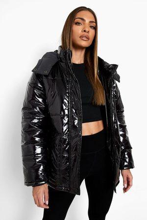 Boohoo Reflective Hood Puffer Coat