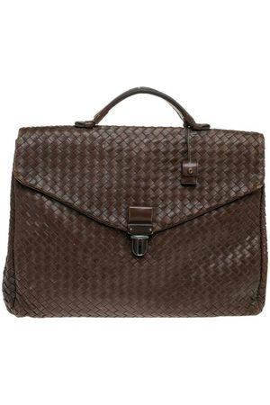 Bottega Veneta Pre-owned Intrecciato Leather Briefcase