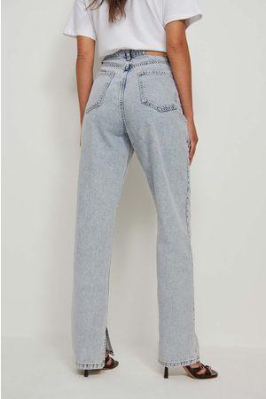 NA-KD Dame High waist - Økologiske Jeans Med Sidesplitt