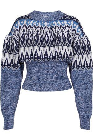 Paco rabanne Jacquard wool-blend sweater