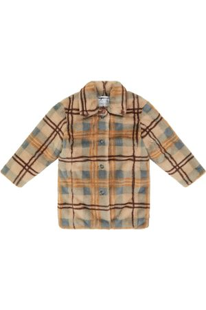 PAADE Checked faux fur coat