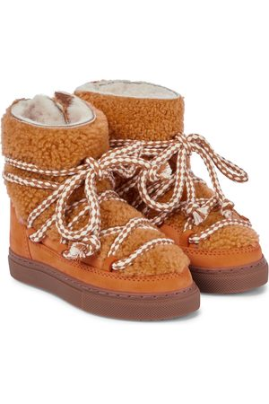 INUIKII Kids Barn Støvler - Sneaker shearling and suede boots