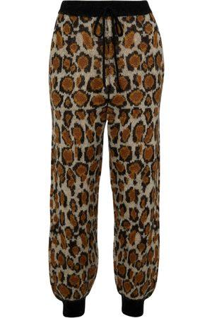 ROTATE Joggebukser - Rhea leopard-print sweatpants