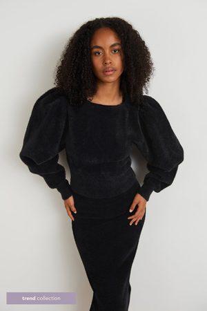 Gina Tricot Dame Strikkegensere - Bun Trend sweater