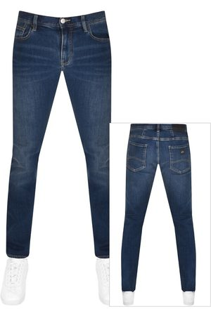 Armani Herre Smale bukser - J13 Slim Fit Jeans Bue