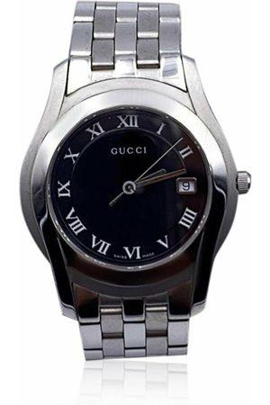Gucci Klokker - Pre-owned Silver Stainless Steel Mod 5500 M Quartz Wrist Watch