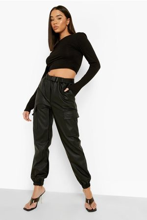 Boohoo Cargo Belted Pu Jogger Trouser