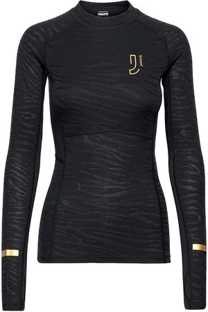 Johaug Dame Ulltrøyer - Advance Tech-Wool Long Sleeve Base Layer Tops Svart