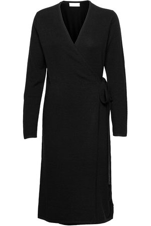 FALL WINTER SPRING SUMMER Creepers Wrap Knit Dress Dresses Wrap Dresses
