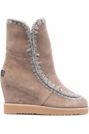 Mou Dame Skoletter - Wedge ankle boots