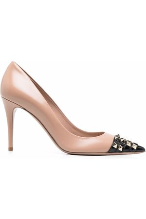VALENTINO GARAVANI Dame Pumps - Rockstud studded toecap pointed-toe pumps