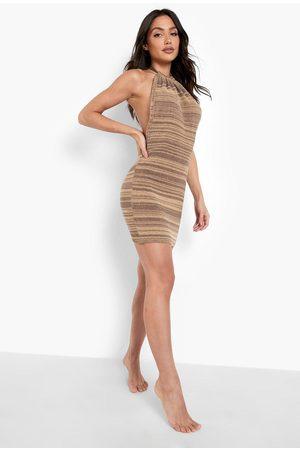 Boohoo Beach Backless Halter Neck Dress