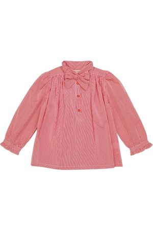 Caramel Folsom striped cotton blouse