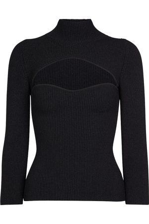 Khaite Angela cut-out jersey sweater