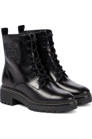Tory Burch Miller leather combat boots