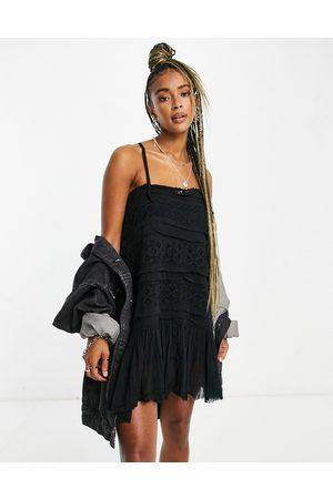 Free People Shailee slip dress in black