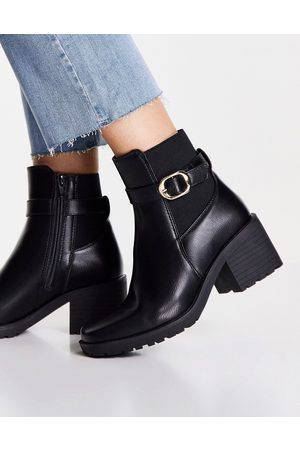 Truffle Collection Mid heel ankle boots in black