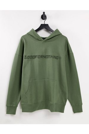 Good For Nothing Co-ord oversized hoodie in sage green with logo print
