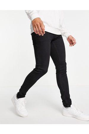 JACK & JONES Intelligence Liam skinny fit jeans in washed black