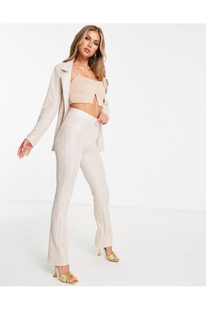 ASOS Jersey shimmer suit kickflare trouser in gold