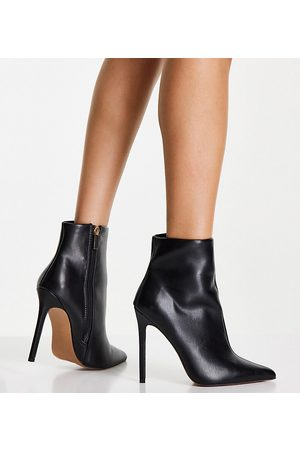 ASOS Wide Fit Emerald high heeled sock boots in black