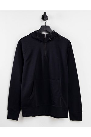 French Connection Overhead half zip tricot hoodie co-ord in navy