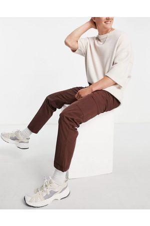 Bolongaro Pocket cotton trousers-Brown